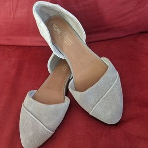 Tom's Suede pointed toe flats